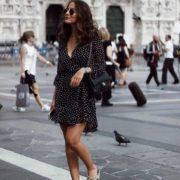 zlxfw3-l-610x610-shoes-nomadic+state+mind-sandals-flat+sandals-nude+sandals-dress-mini+dress-black+dress-polka+dots-wrap+dress-bag-black+bag-sunglasses