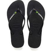 750x750.fit.Havaianas Ladies Slim Brasil Logo Flip-Flops - Black3
