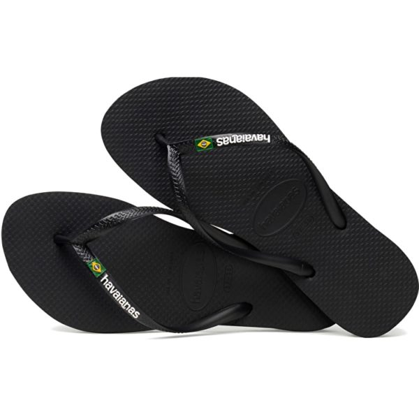 750x750.fit.Havaianas Ladies Slim Brasil Logo Flip-Flops - Black4