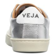 Veja Esplar Small Velcro Leather Trainers in Silver Kids Shoes U77Cjk4Of_2