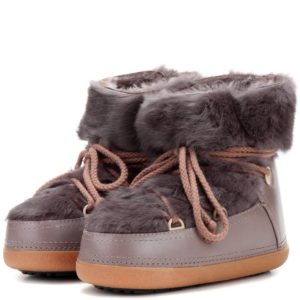RCct-100-genuine-Women-Rabbit-Low-fur-lined-leather-boots-Taupe-Best-deals