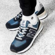 New-Balance-Ml574-Sneakers-Shoes-Mens-Sport-Blue