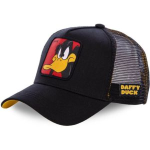 capslab-daffy-duck-daf1-looney-tunes-black-trucker-hat