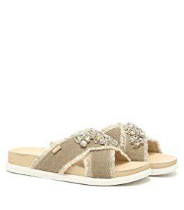 liu jo - Sandalias de vestir de Lona para mujer beige Chinchilla B01MV0TT8Q